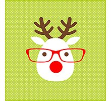 Hipster Reindeer Photographic Print