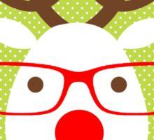 Hipster Reindeer Sticker