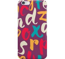 Lettering ABC iPhone Case/Skin