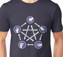 Paper-scissors-rock-lizard-spock! Unisex T-Shirt