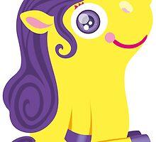 Cute Yellow Unicorn by Kopfzirkus