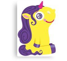 Cute Yellow Unicorn Canvas Print