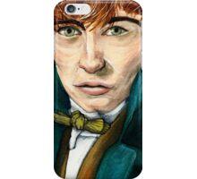 Newt Scamander Speed Painting Portrait iPhone Case/Skin