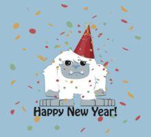 Happy New Year Yeti One Piece - Short Sleeve