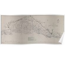 Civil War Maps 1621 Sketch of portions of seacoast of South Carolina Georgia Poster