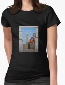 Rock Guitar Les Paul Womens Fitted T-Shirt