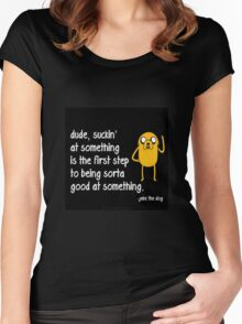 Jake the Dog's Great Saying - AdventureTime! Women's Fitted Scoop T-Shirt