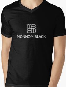 Monnom Black Mens V-Neck T-Shirt