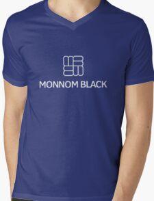 Monnom Black Mens V-Neck T-Shirt