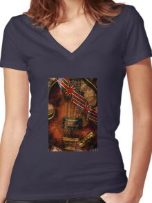 British invasion Women's Fitted V-Neck T-Shirt