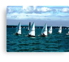 Sailing On The Solent Canvas Print