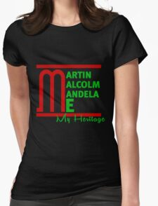 Martin Malcom Mandela Me Womens Fitted T-Shirt