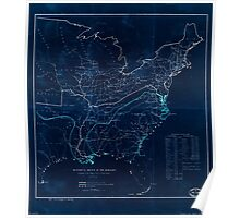 Civil War Maps 0497 Historical sketch of the Rebellion United States Inverted Poster