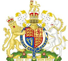 Royal Coat of Arms of United Kingdom (England, Wales, Northern Ireland) by abbeyz71