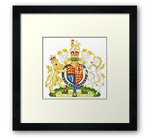 Royal Coat of Arms of United Kingdom (England, Wales, Northern Ireland) Framed Print