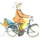 Flower bike guy by Sanne Thijs