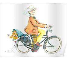Flower bike guy Poster
