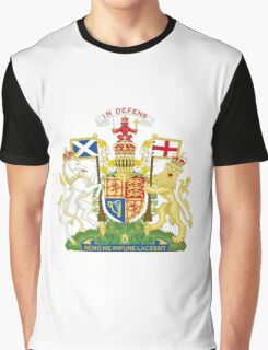 Royal Coat of Arms of United Kingdom (Scotland) Graphic T-Shirt