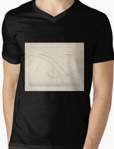 Civil War Maps 1670 Sketch plan of Columbiad Battery Fort Holt Ky opposite Cairo Ill Mens V-Neck T-Shirt