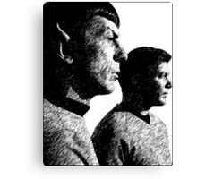 Star Trek Spock&Kirk Canvas Print