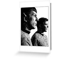 Spock&Kirk Greeting Card
