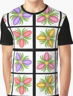 Tiled Foot Flowers Graphic T-Shirt