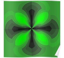 Shaded Green Cross Poster