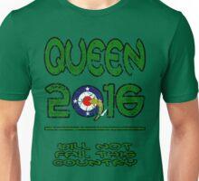Queen in 2016 distressed Unisex T-Shirt