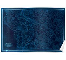 Civil War Maps 1536 Richmond surveyed under the direction of N Michler Maj of Engrs Bvt Brig Genl USA and PS Michie Capt of Engrs Bvt Brig Genl USV Inverted Poster