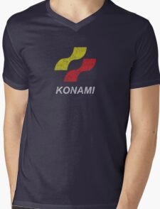 Konami Logo (Original - Distressed) Mens V-Neck T-Shirt