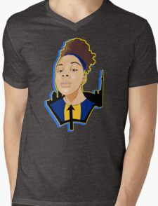 Bronx April Custom Design Mens V-Neck T-Shirt