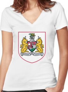 bristol city logo Women's Fitted V-Neck T-Shirt