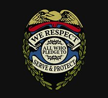 Respect to Those Who Serve & Protect - Law Enforcement Lives Matter - All Lives Matter - Police Appreciation - Blue Lives Matter Womens Fitted T-Shirt