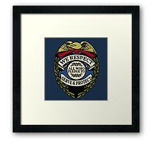 Respect to Those Who Serve & Protect - Law Enforcement Lives Matter - All Lives Matter - Police Appreciation - Blue Lives Matter Framed Print