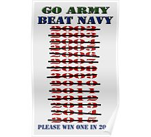 Go Army - Beat Navy - Please win one in 2016 Poster