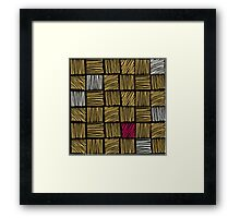 Abstract geometric hand drawn strokes seamless pattern. Framed Print