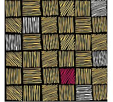 Abstract geometric hand drawn strokes seamless pattern. Photographic Print