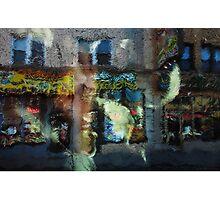 Spinning Head City Street Generative Urban Painting Photographic Print