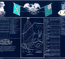 Civil War Maps 1061 Map showing the battle field at Harrisburg Miss July 13-15 1864 Inverted by wetdryvac