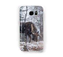 Moose in a snow storm Samsung Galaxy Case/Skin