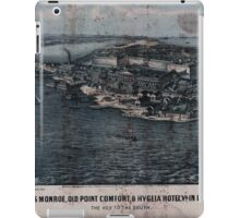 Civil War Maps 0400 Fortress Monroe Old Point Comfort Hygeia Hotel Va in 1861 1862 The key to the South iPad Case/Skin