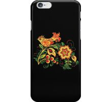 Khokhloma bird iPhone Case/Skin