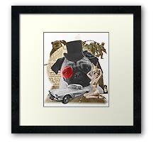 Pug Retrô Framed Print