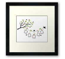 cute birds #1 Framed Print