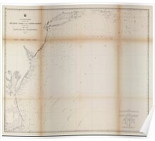 Civil War Maps 0065 Atlantic coast of the United States in four sheets sheet no II Nantucket to Cape Hatteras Poster