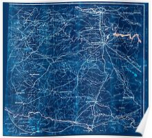 Civil War Maps 2249 South central Virginia showing lines of transportation Inverted Poster