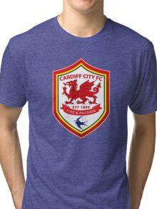 cardiff city logo Tri-blend T-Shirt