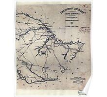Civil War Maps 0551 Lexington District South Carolina Poster