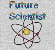 Future Scientist announcement for kids clothes  One Piece - Short Sleeve