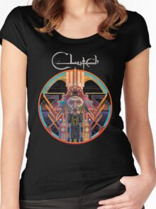 Clutch Earth Rocker Women's Fitted Scoop T-Shirt